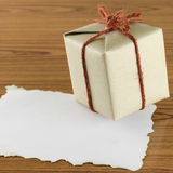 Gift box with paper Stock Photos