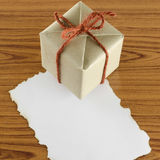 Gift box with paper Stock Photo