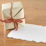 Gift box with paper Royalty Free Stock Photos