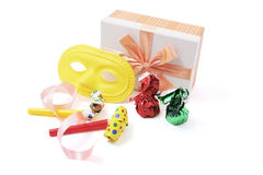 Gift Box and Party Favors Stock Images