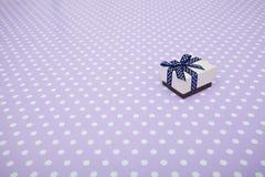 Gift box on pastel background. Christmas minimal concept idea. Stock Image