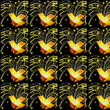 Gift box pattern. Gift boxes on the black background for any purpose Royalty Free Stock Photo