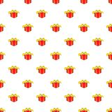 Gift in box pattern, cartoon style. Gift in box pattern. Cartoon illustration of gift in box vector pattern for web Stock Photo