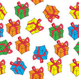 Gift box pattern Stock Images