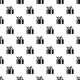 Gift box pattern, simple style Stock Images