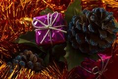 Christmas gift box Stock Photography