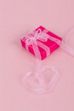 Gift box on pink Royalty Free Stock Images