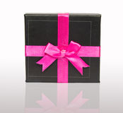 Gift Box With Pink Bow Stock Photography