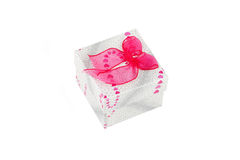 Gift box with pink bow Royalty Free Stock Photo