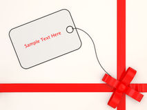 Gift Box with place for your text (top view) Royalty Free Stock Image