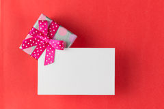 Gift box with plain card Stock Image