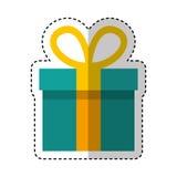 Gift box present icon Stock Photo