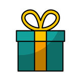 Gift box present icon Royalty Free Stock Images