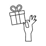 Gift box present icon Royalty Free Stock Photography