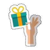 Gift box present icon Stock Photos