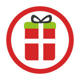 Gift box present icon Stock Photos