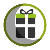 Gift box present icon Royalty Free Stock Photo