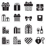 Gift box & present icons stock illustration