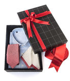 Gift box. Present on isolated white background Stock Images