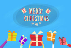 Gift Box Present Merry Christmas Happy New Year Royalty Free Stock Image