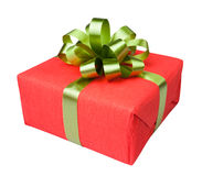 Gift box present red Stock Photos