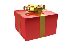 Gift box red Stock Image
