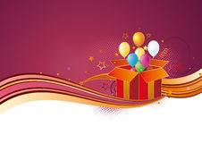 gift box and red background Royalty Free Stock Images