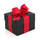 Gift Box with Red Bow Royalty Free Stock Images