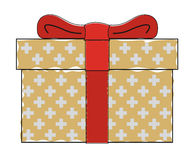 Gift box with red bow Stock Image