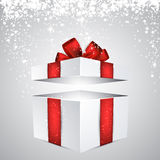 Gift box with red bow. Stock Photography