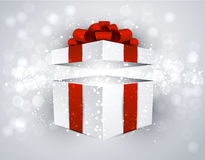 Gift box with red bow. Stock Images