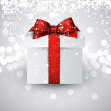 Gift box with red bow. Stock Image