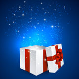 Gift box with red bow. Royalty Free Stock Photos