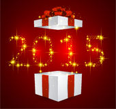 Gift box with red bow. Royalty Free Stock Photo