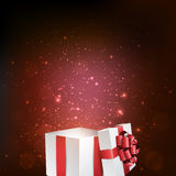 Gift box with red bow. Royalty Free Stock Images