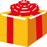 Gift box with red bow. Vector Royalty Free Stock Photo