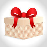 Gift box with a red bow. Vector illustration of a gift box royalty free illustration