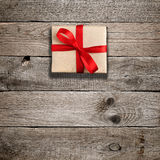 Gift box with red bow Royalty Free Stock Photo