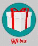 Gift box with a Red Bow. For your design Royalty Free Stock Images