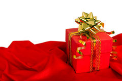 Gift box of red color Stock Photos