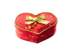 Gift box. Red heart shape gift box Stock Photo