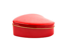Gift box red heart. On a white background Stock Photography
