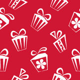 Gift box red pattern for banner, graphic or. Website backgrounds. Holiday celebration, decoration event, vector illustration Royalty Free Stock Photo