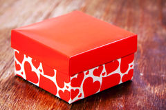 Red Gift box Stock Photos