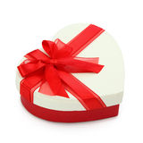 Gift box and red ribbon Stock Images
