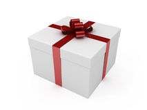 Gift box with red ribbon Royalty Free Stock Image