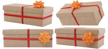 Gift box with red ribbon Stock Image