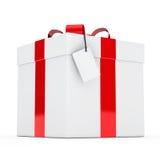 Gift box red ribbon Royalty Free Stock Photos