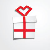 Gift box red ribbon Stock Photo
