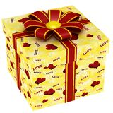 Gift box with red ribbon bow Stock Image